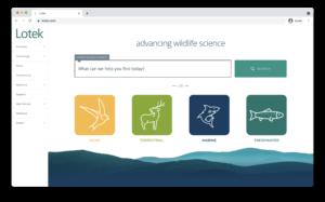 Screenshot of the Lotek website homepage